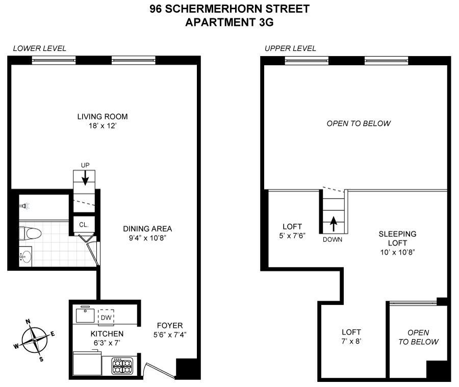 96 Schermerhorn Street 3G Downtown Brooklyn NY 11201