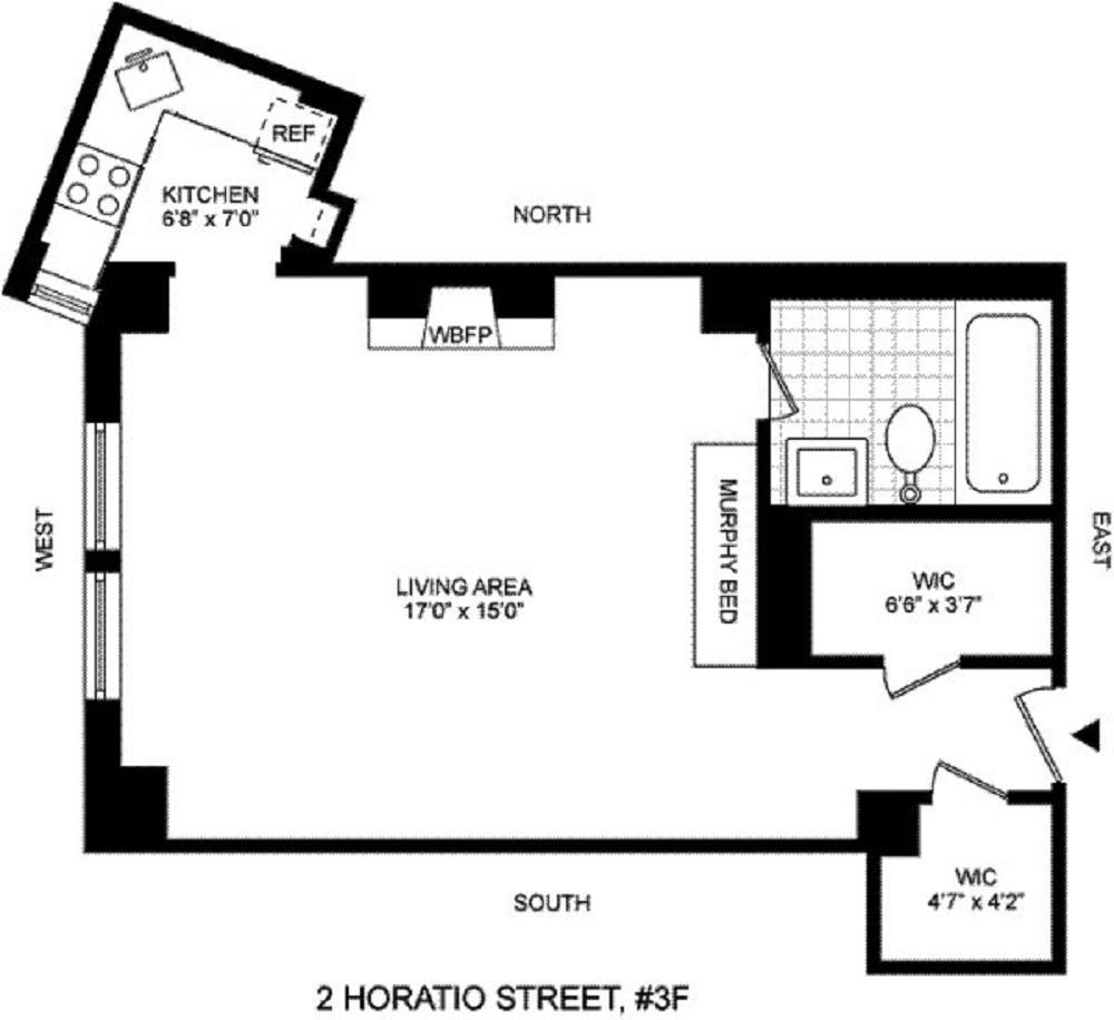 2 Horatio Street W. Greenwich Village New York NY 10014