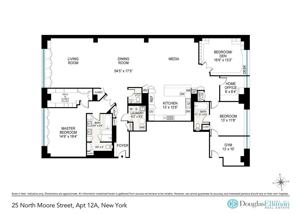 25 North Moore Street Tribeca New York NY 10013