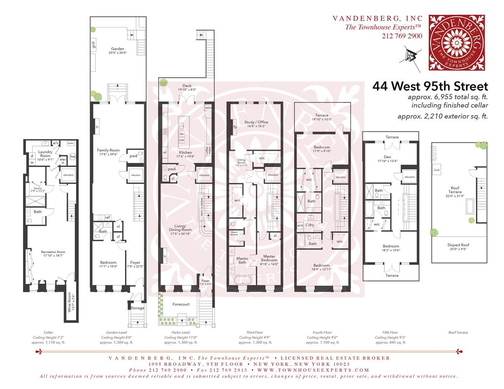 44 West 95th Street Upper West Side New York NY 10025