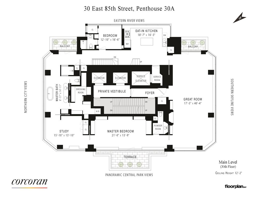 30 East 85th Street PH-30A Upper East Side New York NY 10028