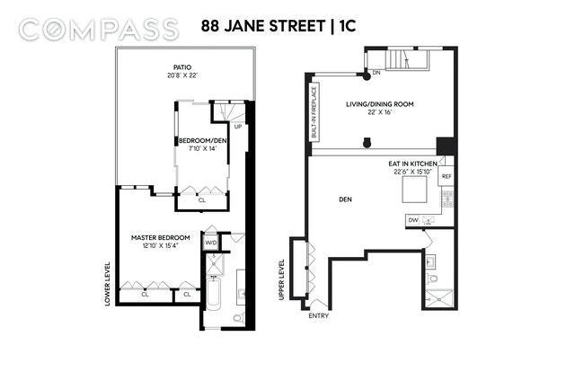 88 Jane Street W. Greenwich Village New York NY 10014