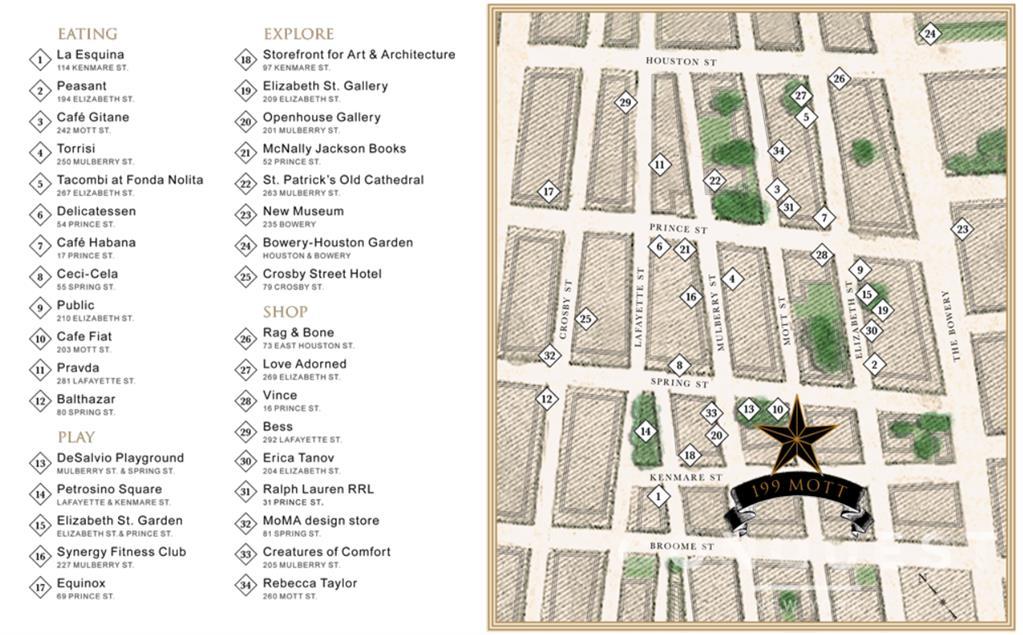 199 Mott Street Soho New York NY 10012