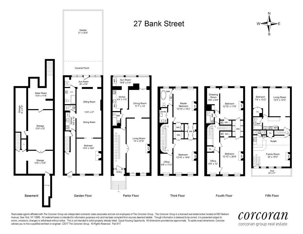 27 Bank Street W. Greenwich Village New York NY 10014